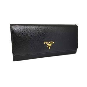 9a60510b9d2e 新品同様 プラダ 長財布 型押し レザー 1M1132 サフィアーノ バイカラー ブラック ホワイト カード付き PRADA SAFFIANO