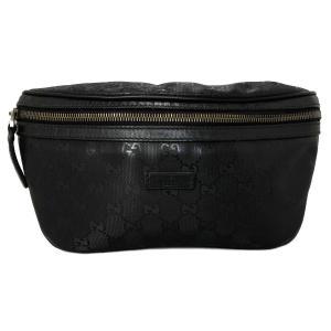 グッチ ウエストバッグ インプリメ ボディバッグ 233269 ヒップバッグ ブラック 黒 PVC メンズ レディース インプリメライン GUCCI|brandeal