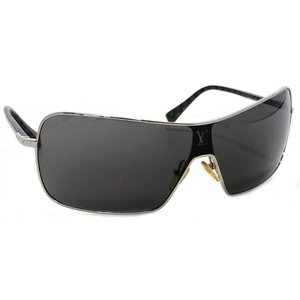 ルイヴィトン コンスピラシオン マスクオム サングラス ブラック シルバー 黒 Z0196U メンズ...