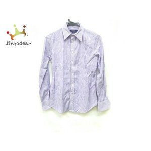 ポロラルフローレン 長袖シャツ サイズ0150/80A メンズ パープル×白 ストライプ/CUSTO...