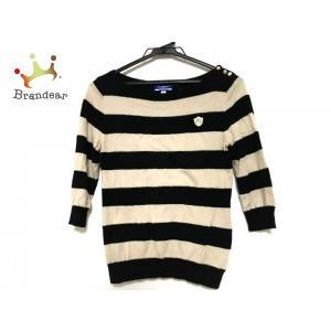 バーバリーブルーレーベル 長袖セーター サイズ38 M レディース 黒×ベージュ×ゴールド     ...