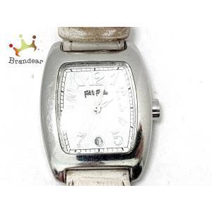 フォリフォリ FolliFollie 腕時計 S922 レディース 革ベルト 白     スペシャル...