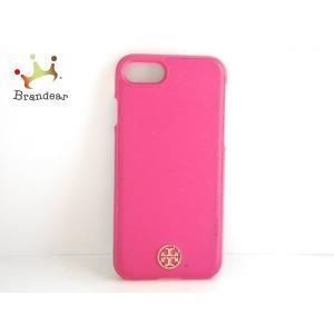 00acaf0634 トリーバーチ TORY BURCH 携帯電話ケース ピンク IPHONEケース プラスチック×レザー 新着 20190602