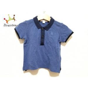 バーバリー Burberry 半袖ポロシャツ サイズ12M80cm メンズ 美品 ブルー×ネイビー ...