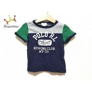 ラルフローレン 半袖Tシャツ サイズ12M/80/48 メンズ 美品 ネイビー×グリーン×マルチ 子...