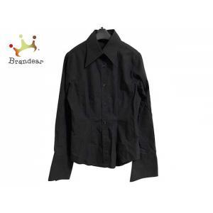ナラカミーチェ NARACAMICIE 長袖シャツブラウス サイズ0 XS レディース 黒 刺繍     スペシャル特価 20200503 brandear