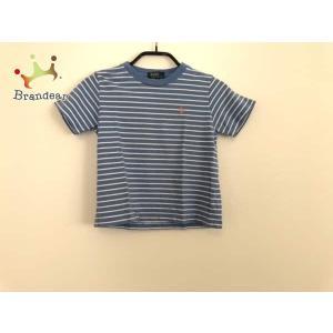 ポロラルフローレン 半袖Tシャツ サイズ110 メンズ ライトブルー×白 子供服/ボーダー   スペ...