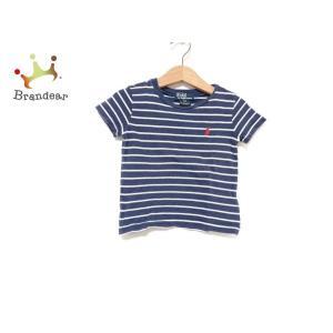 ポロラルフローレン 半袖Tシャツ サイズ12 メンズ ネイビー×白 子供服/ボーダー   スペシャル...