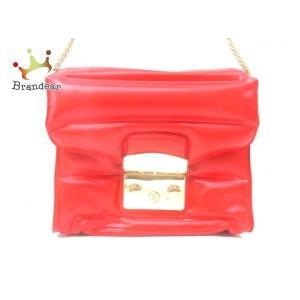 フルラ FURLA ショルダーバッグ メトロポリス オキシゲン レッド PVC(塩化ビニール)   ...