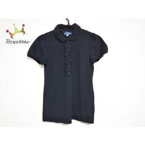 バーバリーブルーレーベル 半袖ポロシャツ サイズ38 M レディース ネイビー フリル   スペシャ...