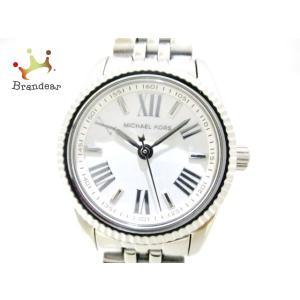 569d9c487633 マイケルコース MICHAEL KORS 腕時計 美品 MK-3228 レディース 白 新着 20190602