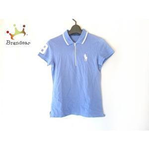 ラルフローレンゴルフ RalphLaurenGOLF 半袖ポロシャツ サイズXS レディース ブルー×白   スペシャル特価 20200804|brandear