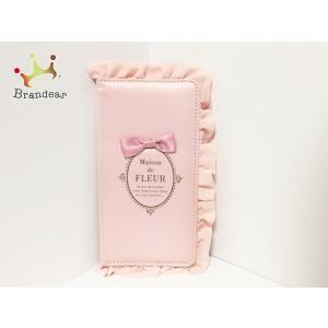 メゾンドフルール 携帯電話ケース ピンク iPhoneケース/ミラー付き/リボン/フリル 化学繊維 ...