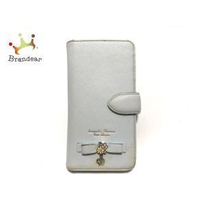 サマンサタバサプチチョイス 携帯電話ケース ライトブルー iPhoneケース 合皮   スペシャル特...