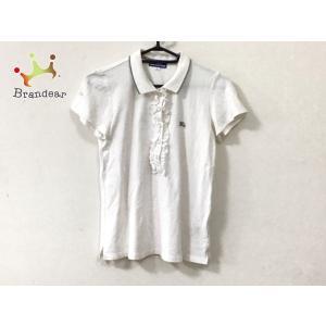 バーバリーブルーレーベル 半袖ポロシャツ サイズ38 M レディース 美品 白 フリル 新着 201...