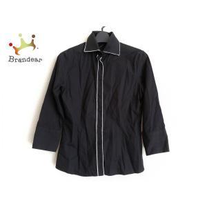 ナラカミーチェ NARACAMICIE 七分袖シャツブラウス サイズ1 S レディース 黒×白       スペシャル特価 20200924 brandear
