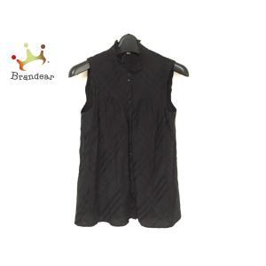 バーバリーブルーレーベル ノースリーブシャツブラウス サイズ36 S レディース 美品 黒   スペ...