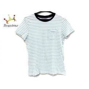 ラルフローレン 半袖Tシャツ サイズS レディース 白×ライトブルー×ネイビー ボーダー   スペシャル特価 20200908|brandear