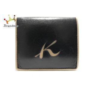 キタムラ KITAMURA 2つ折り財布 黒×ブラウン レザー   スペシャル特価 20191205