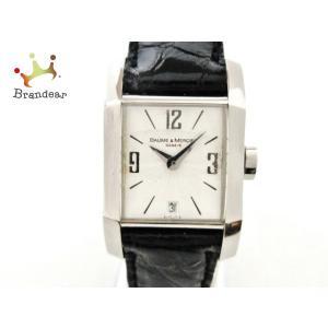 ボーム&メルシエ BAUME&MERCIER 腕時計 3816379 レディース 革ベルト 白   ...