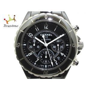 シャネル CHANEL 腕時計 美品 J12 - メンズ 黒  値下げ 20191026
