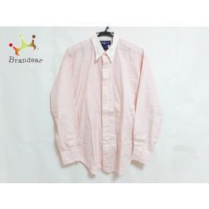 ラルフローレン RalphLauren 長袖シャツ サイズ10 メンズ ピンク×白   スペシャル特価 20200826|brandear