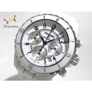 シャネル CHANEL 腕時計 J12クロノグラフ H1007 メンズ セラミック/クロノグラフ/4...
