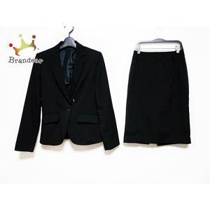 エムエフエディトリアル m.f.editorial スカートスーツ サイズS レディース 黒 肩パッ...