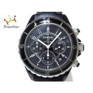 シャネル CHANEL 腕時計 J12 H0938 メンズ 41mm/ブラックセラミック/革ベルト ...
