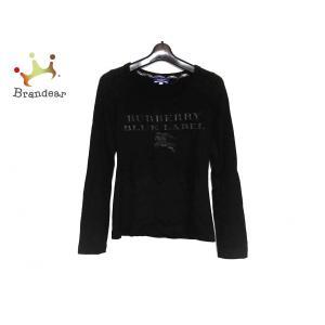 バーバリーブルーレーベル 長袖セーター サイズ38 M レディース 美品 黒×グレー 新着 2019...