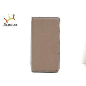 ボナベンチュラ BONAVENTURA 携帯電話ケース 美品 ライトブラウン 手帳型iPhoneケー...