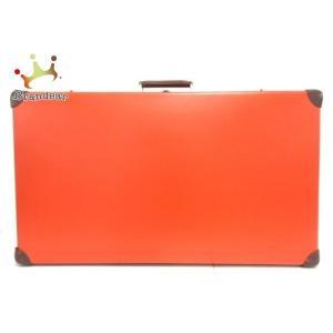グローブトロッター キャリーバッグ オリジナル 30インチ スーツケース オレンジ×ブラウン  値下...