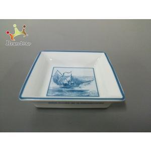 エルメス HERMES 小物 美品 白×ブルー 灰皿 陶器 新着 20200116