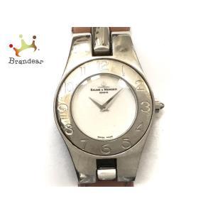 ボーム&メルシエ BAUME&MERCIER 腕時計 リネア 65305 レディース 革ベルト 白 ...