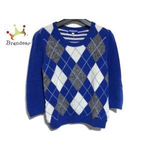 バーバリーブルーレーベル 長袖セーター サイズ38 M レディース ブルー×グレー×マルチ 新着 2...