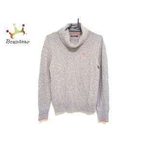 バーバリーブルーレーベル 長袖セーター サイズ38 M レディース 美品 グレー×オレンジ 新着 2...