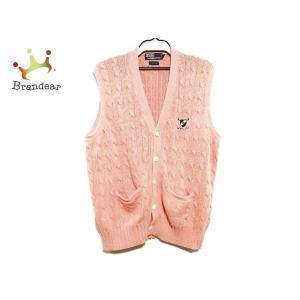 ポロラルフローレン POLObyRalphLauren ベスト サイズL メンズ ピンク×マルチ 刺繍/ニット   スペシャル特価 20200817|brandear