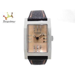 エルメス HERMES 腕時計 タンデム TA1.210 レディース 革ベルト ベージュ 新着 20...