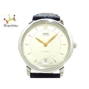オリス ORIS 腕時計 クラシックデイト 7468 メンズ 革ベルト シルバー 新着 202003...