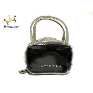 アンテプリマ ANTEPRIMA ハンドバッグ - 黒×シルバー ラメ/ミニバッグ ビニール   スペシャル特価 20200625 brandear