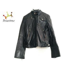 エポカザショップ ライダースジャケット サイズ38 M レディース - 黒 長袖/ラムレザー/冬 新着 20200621|brandear
