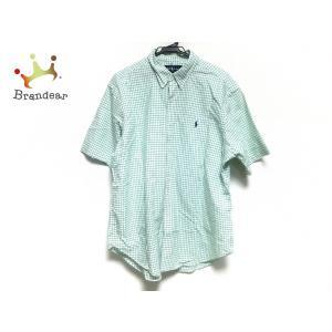 ラルフローレン RalphLauren 長袖シャツ メンズ 白×グリーン チェック柄   スペシャル特価 20200924|brandear