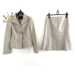 アンタイトル UNTITLED スカートスーツ サイズ2 M レディース ベージュ 3点セット   スペシャル特価 20200824 brandear