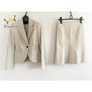 アンタイトル UNTITLED スカートスーツ サイズ1 S レディース ベージュ 3点セット   スペシャル特価 20200818 brandear