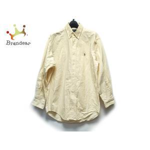 ラルフローレン RalphLauren 長袖シャツ サイズ15 1/2 -33 メンズ - イエロー×白 ストライプ  値下げ 20200923|brandear