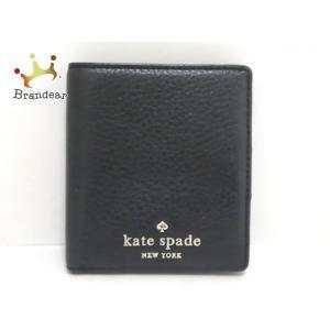ケイトスペード Kate spade 2つ折り財布 PWRU3310 黒 レザー 新着 20200708|brandear