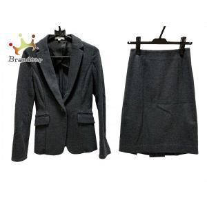 ナラカミーチェ NARACAMICIE スカートスーツ サイズ0 XS レディース ダークグレー   スペシャル特価 20200802 brandear
