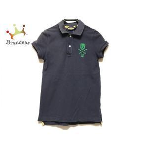 ラルフローレンラグビー 半袖ポロシャツ サイズM レディース ダークネイビー×グリーン   スペシャル特価 20200822|brandear