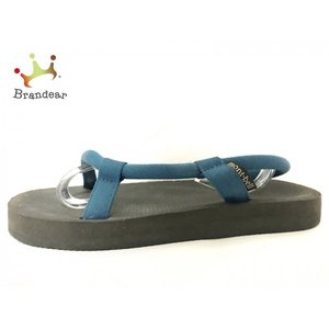 モンベル mont-bell ビーチサンダル レディース 黒×ブルー ポリウレタン×化学繊維 新着 ...