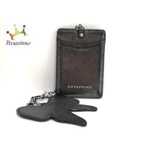 アンテプリマ ANTEPRIMA パスケース 黒 リボン レザー   スペシャル特価 20200728 brandear